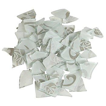 Retro-Mosaik, weiß/silber, 2–3 cm, 100 g