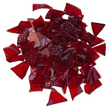 Mosaïque rétro, rouge/argent, 2-3 cm, 100 g