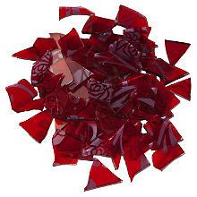 Retro-Mosaik, rot/silber, 2–3 cm, 100 g