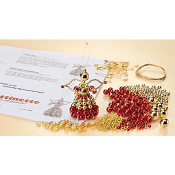 Perlenbastel-Set 'Engel', rot-gold