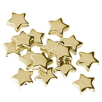 Perles 'étoile', doré, 1,5 cm, 24 pièces
