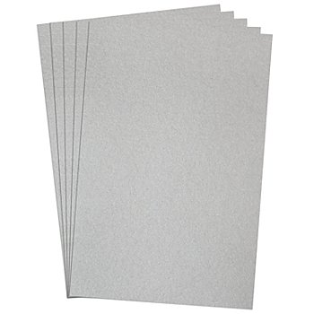 Fotokarton, silber, 50 x 70 cm, 5 Blatt
