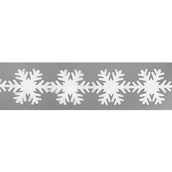 Weihnachtliche Fensterdeko 'Schneeflocke', 17 cm hoch, 1,8 m lang