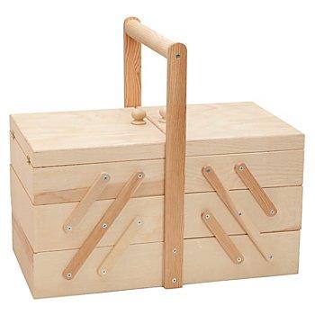 Holz-Nähkästchen, 40 x 22 x 22 cm