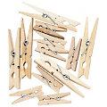 Klammern aus Holz, 4 cm und 7 cm, 48 Stück