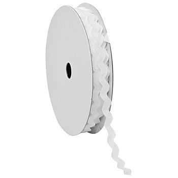 Zackenlitze, weiß, 7 mm, 5 m