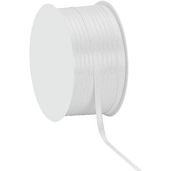 Ruban satin 3 mm, blanc, 50 m