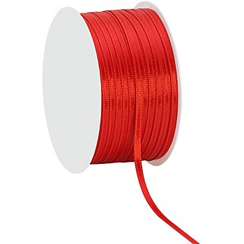 Satinband, rot, 3 mm, 50 m
