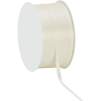 Satinband, creme, 3 mm, 50 m