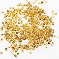 Quetschperlen, gold, 2 mm Ø, 500 Stück