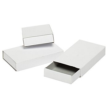 Pappschachteln, weiß, 11 x 6 x 2 cm, 12 Stück