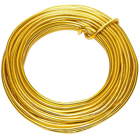 Image of Aludraht, gold, 2 mm Ø, 6 m