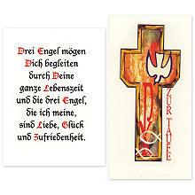 Wachsbild 'Taufe und Spruch', 2 Stück