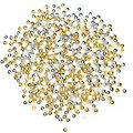 Rundperlen, gold-silber-weiß, 4 mm, 30 g