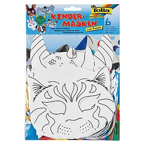 Image of Folia Kindermasken, 6 verschiedene Motive