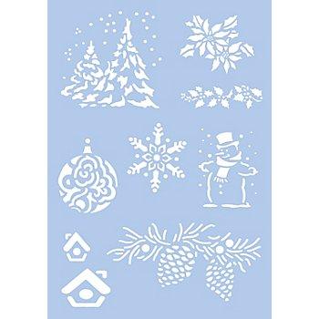 Schablone 'Weihnachten', 9 Motive