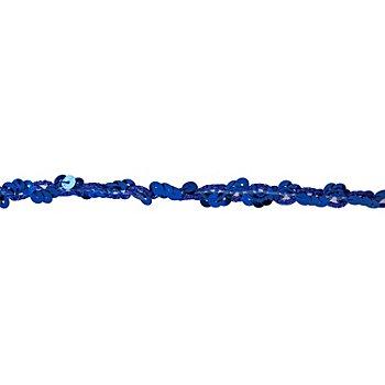 Ruban de paillettes, bleu, largeur : 10 mm, longueur : 3 m