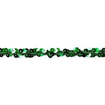 Metallic-Paillettenband, grün, Breite: 10 mm, Länge: 3 m