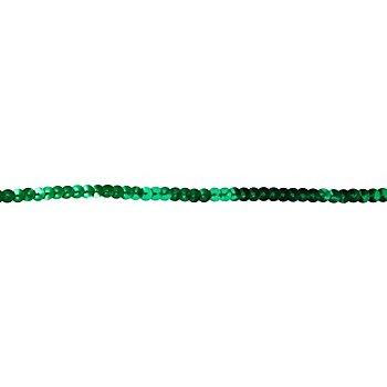 Paillettenband, grün, Breite: 6 mm, Länge: 3 m