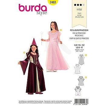 burda Schnitt 2463 'Burgfräulein & Prinzessin' für Mädchen