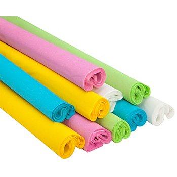 Krepp-Papier 'pastell', 50 cm x 2,5 m, 10 Rollen