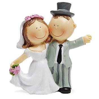 Couple de mariés, 9 cm