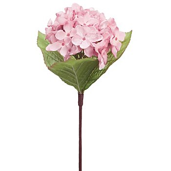 Hortensia artificiel, rose, 28 cm