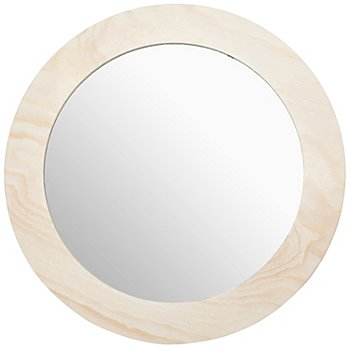 Spiegel mit Holzrahmen, 26 cm Ø
