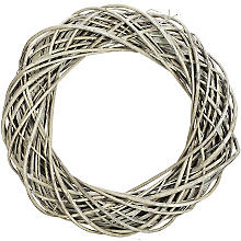 Weidenkranz, grau, 40 cm Ø