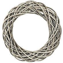 Weidenkranz, grau, 50 cm Ø