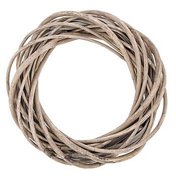 Weidenkranz, grau, 20 cm Ø