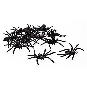 Araignées en plastique, 12 pièces