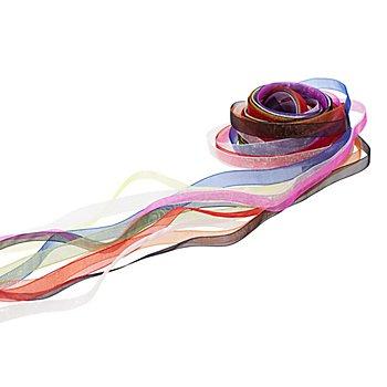 Chiffonbänderpaket, bunt, breit, 10 mm, 10x 2 m