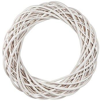 Couronne en osier, blanc, Ø 50 cm