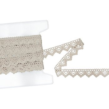 Galon de dentelle aux fuseaux, lin, largeur : 2 cm, longueur : 10 m