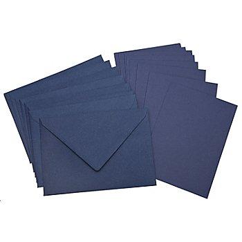 Doppelkarten & Hüllen, marine, A6 / C6, je 10 Stück