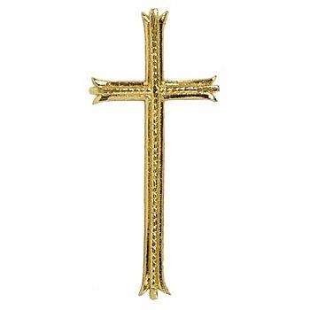Verzierwachsmotiv 'Kreuz gold', 8,5 cm