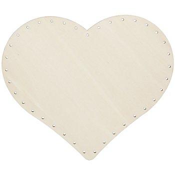 Hochwertiger Korbboden 'Herz', 25 x 22 cm