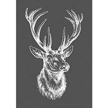 Rayher Pochoir pour sérigraphie 'tête de cerf', 14,8 x 21 cm