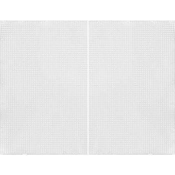 Canevas en plastique, transparent, 2 pièces, 34 x 27 cm
