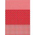 """Décopatch-Papier """"Streifen-Punkte-Karo"""", 39 x 30 cm, 3 Blatt"""
