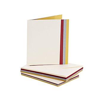 Set de 16 cartes doubles nacrées et enveloppes, A6/C6, 16 pièces