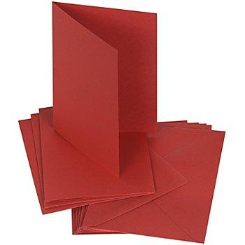 Doppelkartenset, weinrot, A6 / C6, je 50 Stück