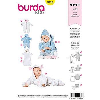 burda Patron 9478 'combinaison pour bébé'