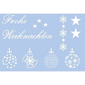 buttinette Pochoir 'motifs de Noël'