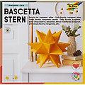 """Folia Papier transparent à plier """"étoile Bascetta"""", jaune/or, 20 x 20 cm, 32 feuilles"""