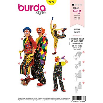 Patron burda  2477 'Clown'