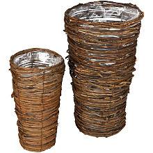 Reben-Pflanzkörbe, 35 cm und 25 cm, 2 Stück