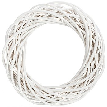 Weidenkranz, weiß, 40 cm Ø