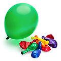 Ballons multicolores métalliques, 9 pièces